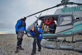 Jennifer Hile - Helicopter landing, Antarctica