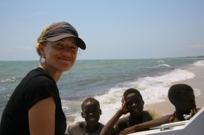 Jennifer Hile - On location, Tofo Beach, Mozambique