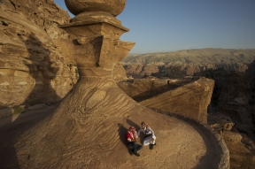Jennifer Hile - Roof of The Treasury, Petra, Jordan