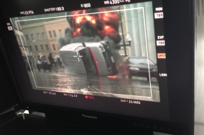 Jennifer Hile - Filming a controlled car crash, Los Angeles