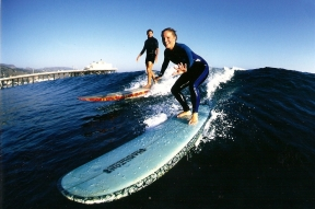 Jennifer Hile - Learning to Surf with Laird Hamilton, Malibu